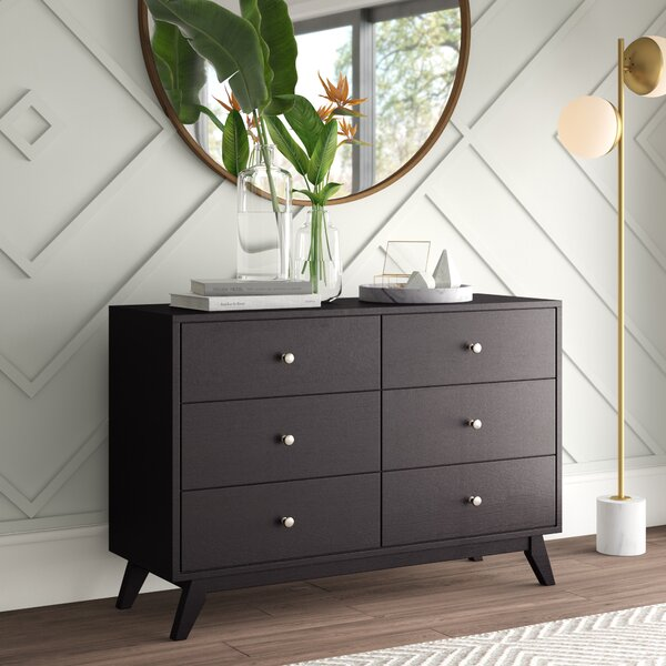Astra 6 Drawer Double Dresser by Mercury Row