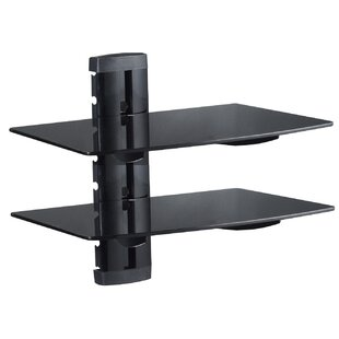 Two Dvd Support Gl Wall Shelf