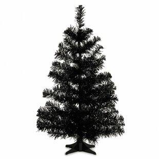PVC 2' Black Artificial Christmas Tree