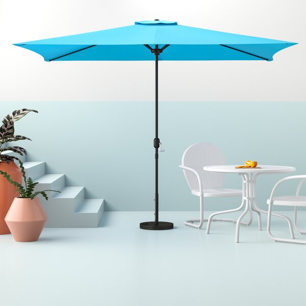 Bradford 9.5' X 6.5' Rectangular Market Umbrella By Hashtag Home by Hashtag Home Great Reviews