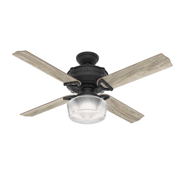 60 Brunswick Wi-Fi 4 Blade LED Ceiling Fan with Remote by Hunter Fan