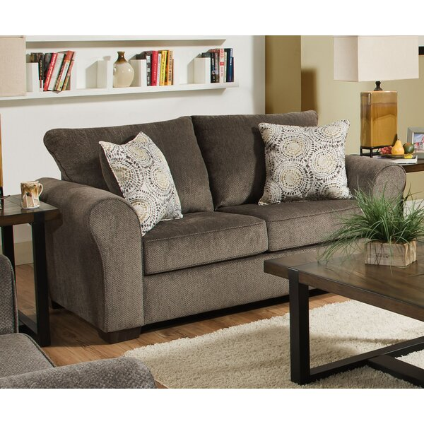 Derry Modern Loveseat by Simmons Upholstery by Alcott Hill