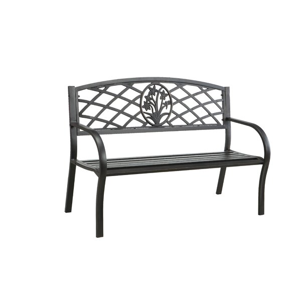Sunny Perennial Outdoor Metal Bench by Hokku Designs