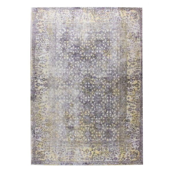 Kashmar Hand-Woven Gray/Gold Area Rug by M.A. Trading
