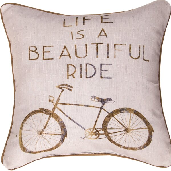 Life is a Beautiful Ride - Dye Throw Pillow by Manual Woodworkers & Weavers