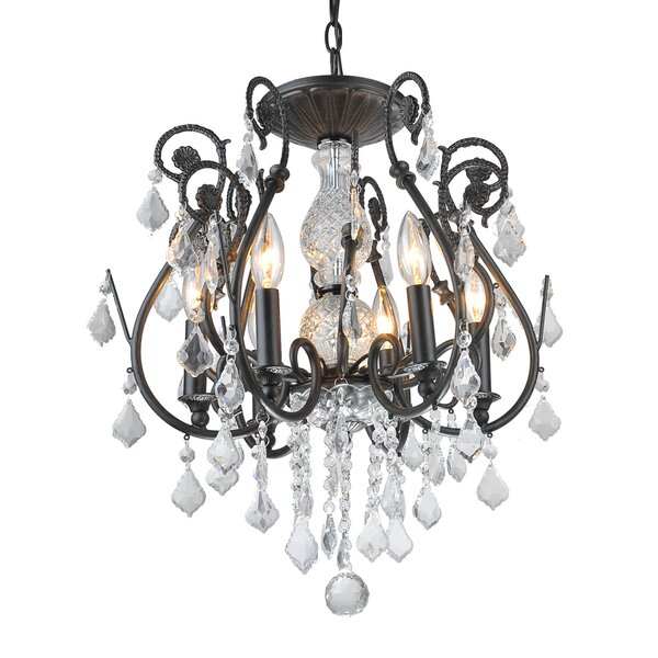 Gatsby 6-Light Crystal Chandelier by House of Hampton