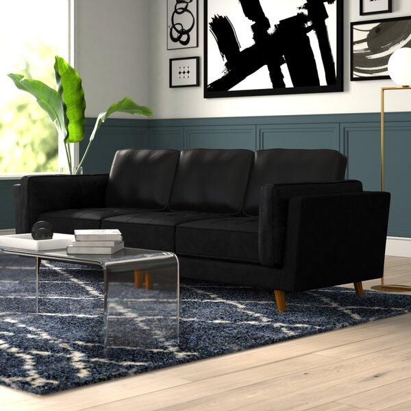 Marrufo Leather Sofa by Mercury Row