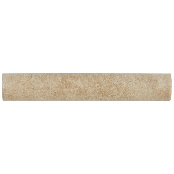 Jacobson 6 x 1 Ceramic Quarter Round Tile Trim in Sand by Itona Tile