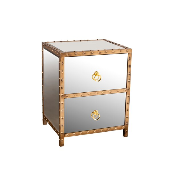 Hobbs 2 Drawer Nightstand by Rosdorf Park