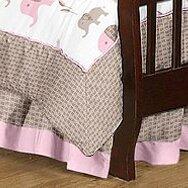 Elephant Toddler Bed Skirt by Sweet Jojo Designs