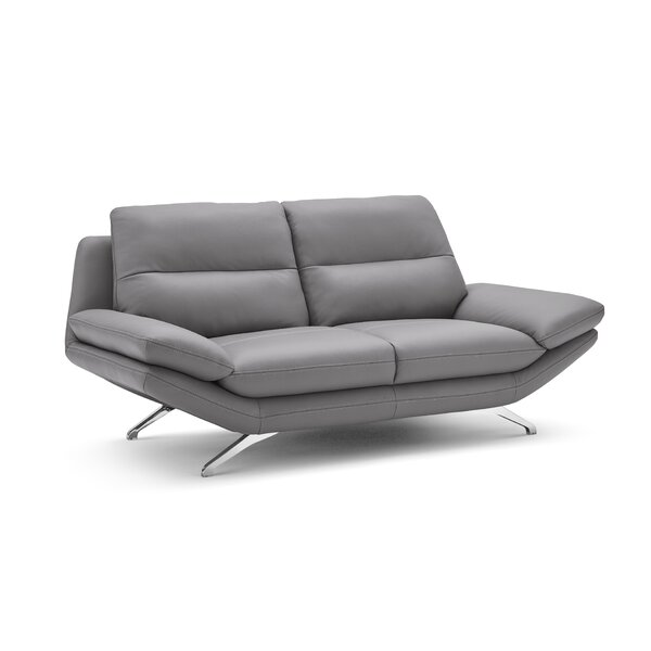 Get The Latest Brandonville Leather Loveseat by Orren Ellis by Orren Ellis