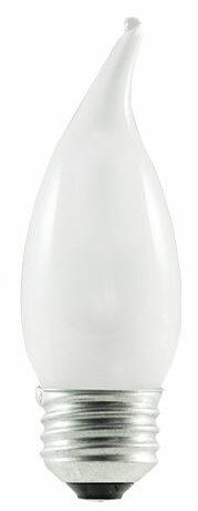 43W (2900K) Frosted Flame Tip CA10 Halogen Light Bulb (Set of 7) by Bulbrite Industries