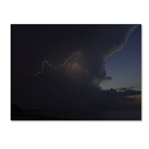 Sunset Thunderhead #3 by Kurt Shaffer Photographic Print on Wrapped Canvas by Trademark Fine Art