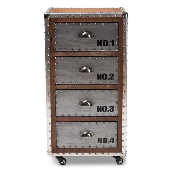 Rawson Wood and Metal 4 Drawer Accent Chest by Williston Forge Williston Forge