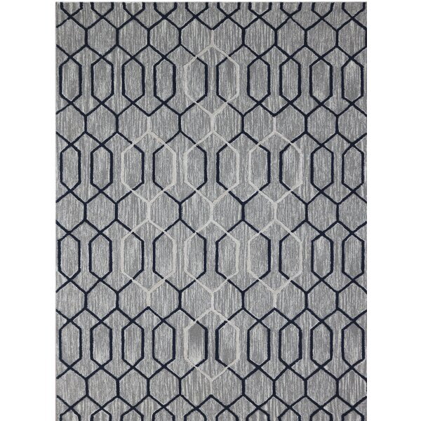 Oneil Hand-Tufted Gray/Beige Area Rug by Wrought Studio