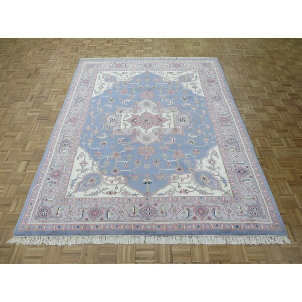 One-of-a-Kind Josephson Serapi Heriz Hand-Knotted Wool Light Blue Area Rug by Canora Grey