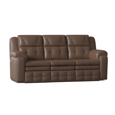 "Inspire 84"""" Pillow Top Arm Reclining Sofa Southern Motion Body Fabric: Pasadena Elk, Reclining Type: Manual -  850-31-24221"