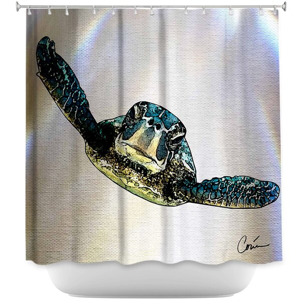 Sea Turtle I Shower Curtain by DiaNoche Designs