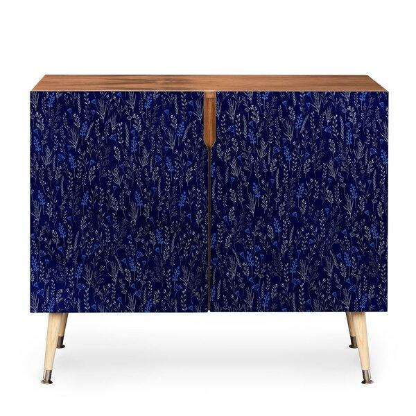 Blue Silk Accent Cabinet