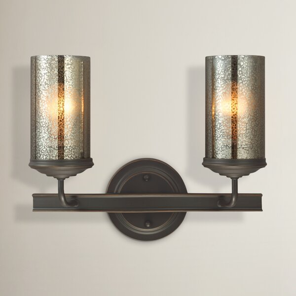Mills Traditional 2-Light Vanity Light by Laurel Foundry Modern Farmhouse