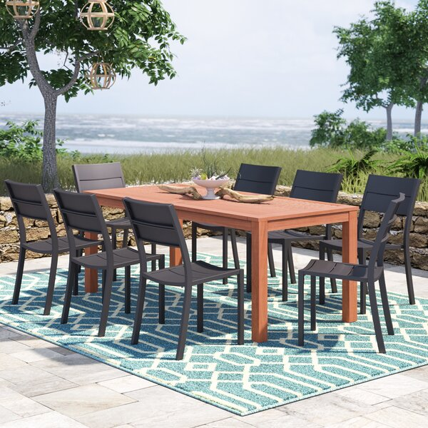 Nettleton 9 Piece Dining Set by Beachcrest Home