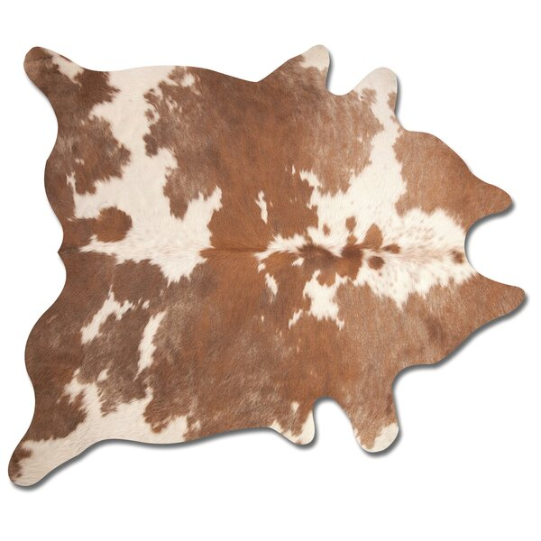Lebron Hand Woven Brown/White Cowhide Area Rug by Laurel Foundry Modern Farmhouse