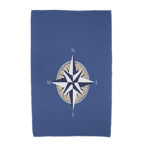 Hancock Compass Geometric Print Beach Towel by Breakwater Bay