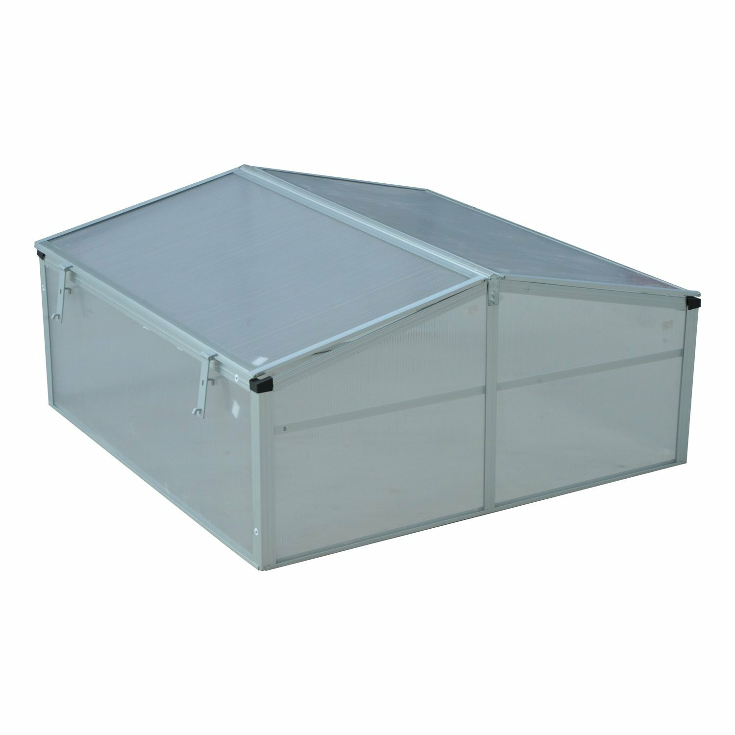 Greenhouse 4 ft Extendable Steel Frame with Zippered Windows x 4 ft x 36 in