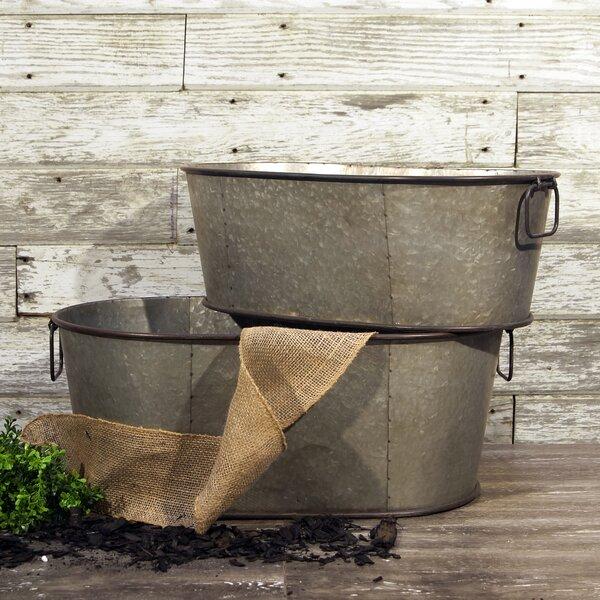 2-Piece Metal Pot Planter Set by American Mercantile