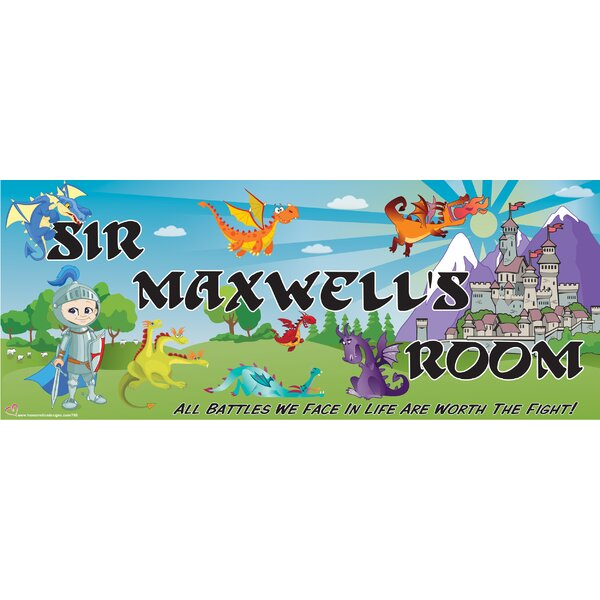 Personalized Knight & Dragon Name Wall Decal by Mona Melisa Designs
