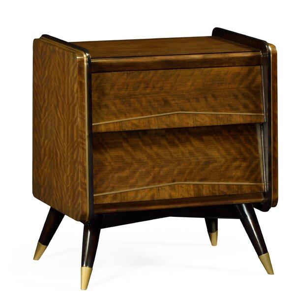 Cosmo Hyedua 2 Drawer Nightstand by Jonathan Charles Fine Furniture
