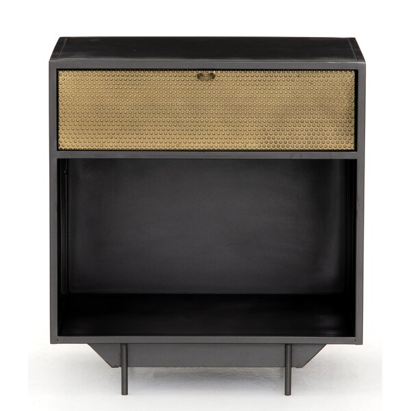 Aymeline Hendrick 1 Drawer Nightstand by Brayden Studio