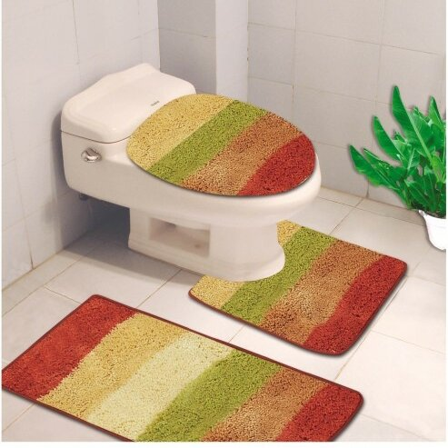 Denise 3 Piece Striped Bath Rug by Kashi Home