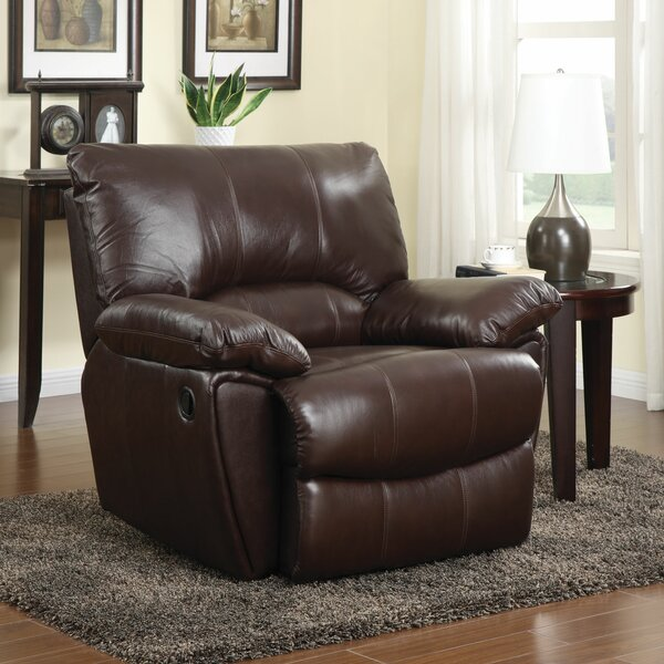 Free Shipping Red Bluff Leather Manual Recliner