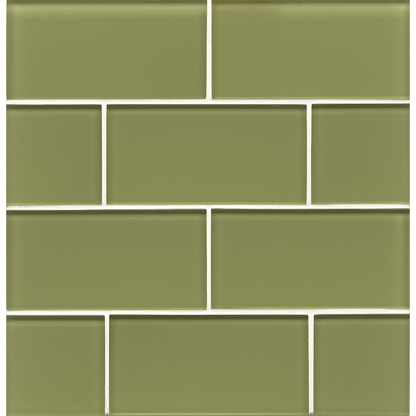 Harbor Glass Gloss Field Tile in Moss by Grayson Martin