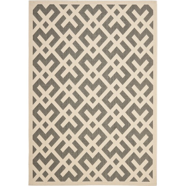 Sherree Gray/Bone Indoor/Outdoor Area Rug by Wrought Studio