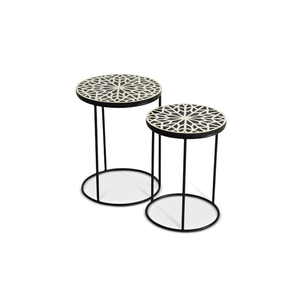 Redington 2 Piece Nesting Tables by Bloomsbury Market