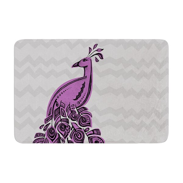 Peacock by Brienne Jepkema Bath Mat by East Urban Home