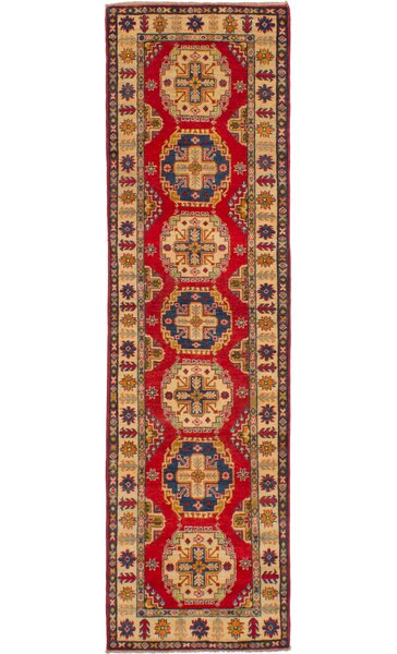 One-of-a-Kind Adkison Hand-Knotted Wool Red/Blue Area Rug by Isabelline