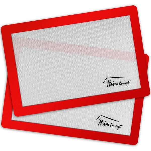 Professional Silicone Non-Stick Baking Mat (Set of 2) by Heim Concept