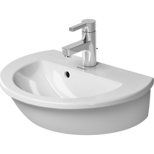 Darling New Ceramic 19 Wall Mount Bathroom Sink with Overflow by Duravit
