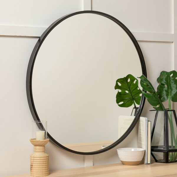 Carmelita 30 Round Wall Mirror by Bay Isle Home