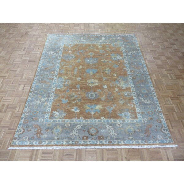 One-of-a-Kind Padillo Turkish Oushak Hand-Knotted Wool Area Rug by Bloomsbury Market