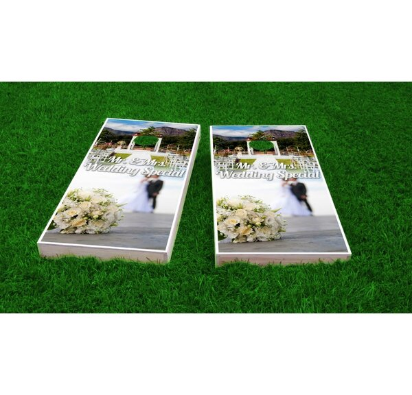 Wedding Flowers Cornhole Game Set by Custom Cornhole Boards