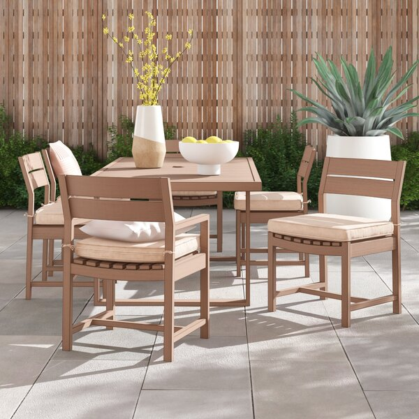 Daly 7 Piece Dining Set with Cushions by Foundstone