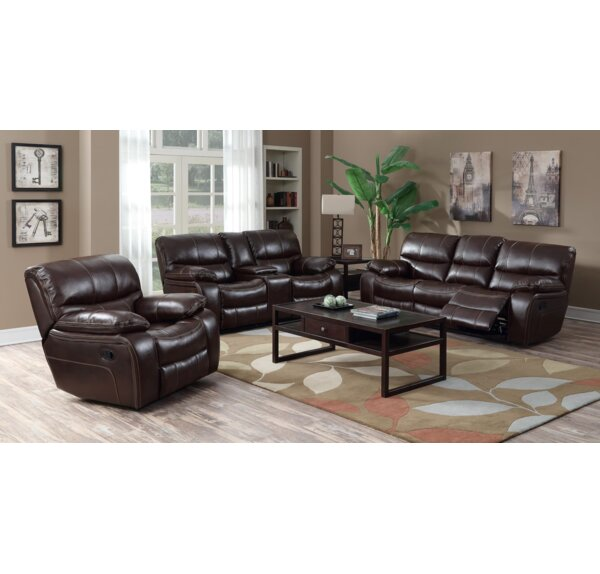 Eastep Reclining 3 Piece Living Room Set by Red Barrel Studio