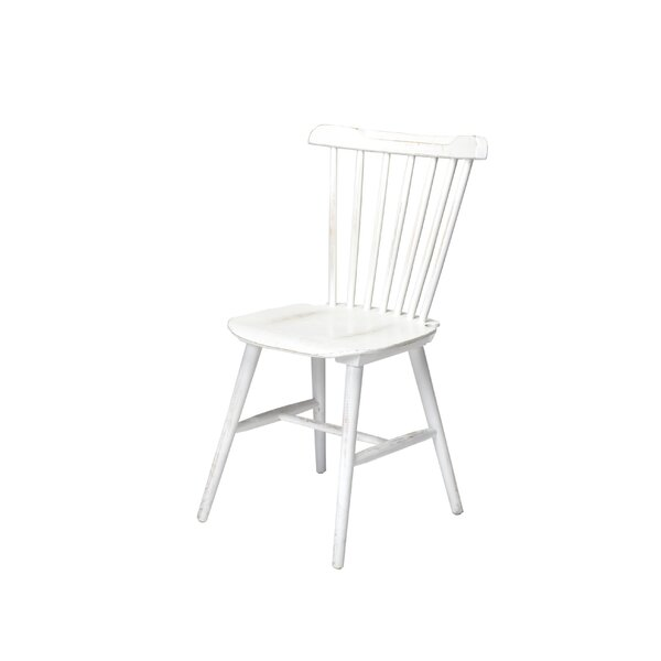 Hileman Windsor Stackable Solid Wood Dining Chair by August Grove