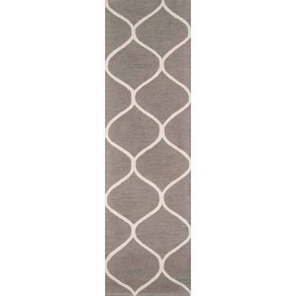 Caldwell Hand-Tufted Gray/Ivory Area Rug by Breakwater Bay