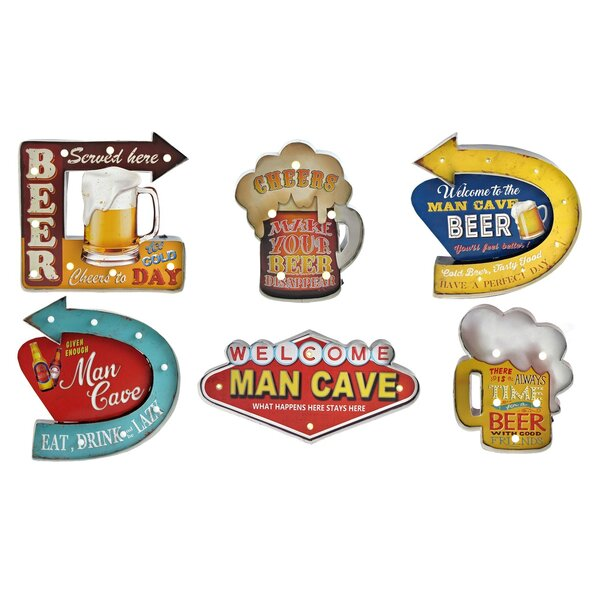 6 Piece Man Cave Wall Décor Set by Red Barrel Studio