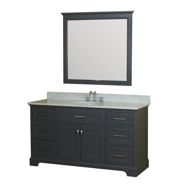 Coston 61 Single Bathroom Vanity Set with Mirror by Red Barrel Studio
